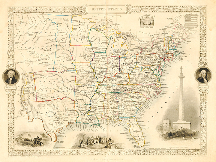 Maps Of The United States The Old Print Gallery Blog - 1789 map of us