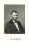 U.S. Grant.  Steel engraving; c. 1875. From the photograph preferred by himself.