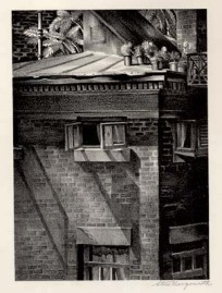 Roof Garden [New York, New York]. Stow Wengenroth, Lithograph, 1933. Edition 25.