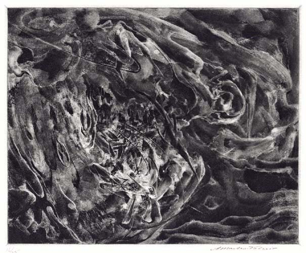 Fury. By Alessandro Mastro-Valerio. Aquatint, c.1952. Signed in pencil.  16/25. $200.00