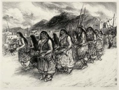 Taos Corn Dance. By Ira Moskowitz. Lithograph, 1946. Edition 30.