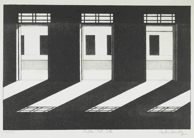 Calle del Sol. By Emilio Sanchez. Lithograph, undated.