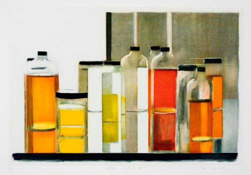 "Bottles & Jars I. By Peri Schwartz. Aquatint, 2009. Inscribed ""12/20."" $1,200.00"