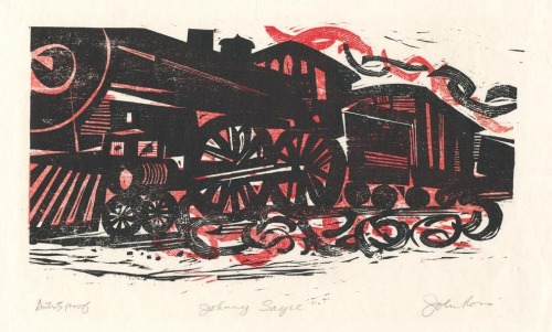 "Johnny Sayre. By John Ross. Woodcut, Inscribed ""Artists proof."" $250.00."