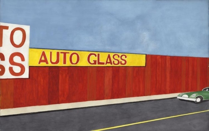 Auto Glass.  [Bronx Storefront.] By Emilio Sanchez. c.1988.