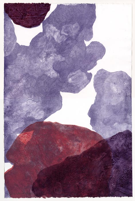To Be Received Again. By Heather McMordie. Lithograph with collagraph, on Stonehenge paper, 2012. Titled and signed by artist in print.  Edition 2/6. $350.00