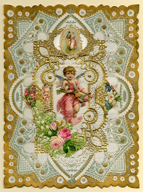 Have I not told my love to thee? A love that e'er will constant prove... Paper lace, c.1890.