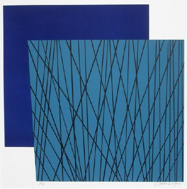 Jules Engel, Cattail II, Color lithograph 2001