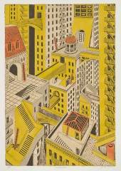 Metropolis. John Ross. Collagraph, undated.