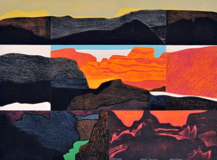 Grand Canyon. Clare Romano. Collagraph, 1975.