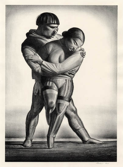 Greenland Courtship. By Rockwell Kent. Lithograph on zinc, 1934.