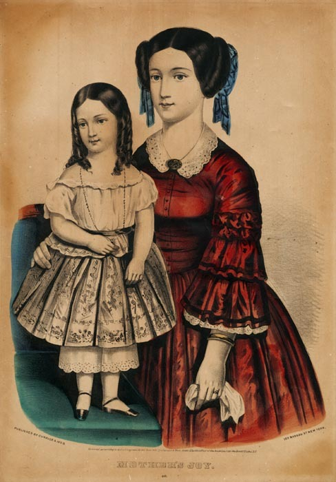 Mother's Joy. Published by Currier & Ives, 152 Nassau St., New York. Lithograph handcolored, undated.