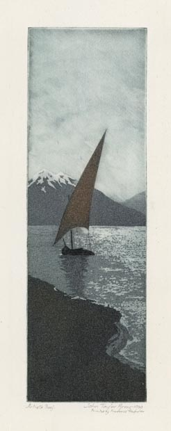 Moonlight, Number One. By John Taylor Arms. Etching and aquatint printed in color, 1920.