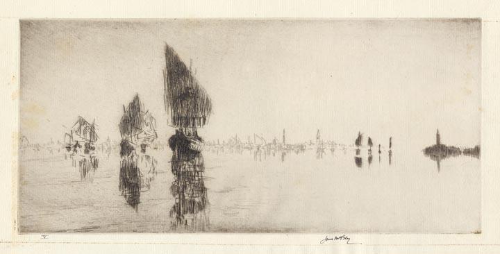 Laguna Veneta. By James McBey. Etching, 1926.