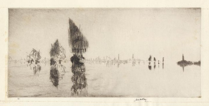 Laguna Veneta. By James McBey. Etching, 1926.