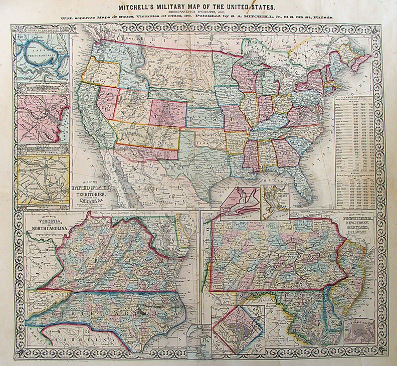 maps of the united states The Old Print Gallery Blog