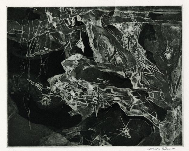 Life in Still Water. Alessandro Mastro-Valerio. Aquatint, c.1950. $225.00.