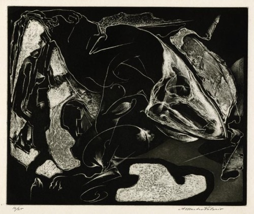 The Mask. Alessandro Mastro-Valerio. Aquatint, c.1949. $475.00.
