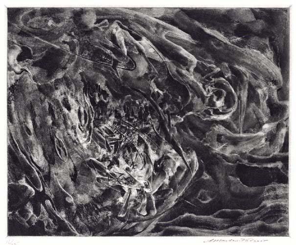 Fury. Alessandro Mastro-Valerio. Aquatint, c.1952.