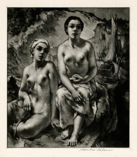 Longing. Alessandro Mastro-Valerio. Mezzotint, 1946. $1,250.00.