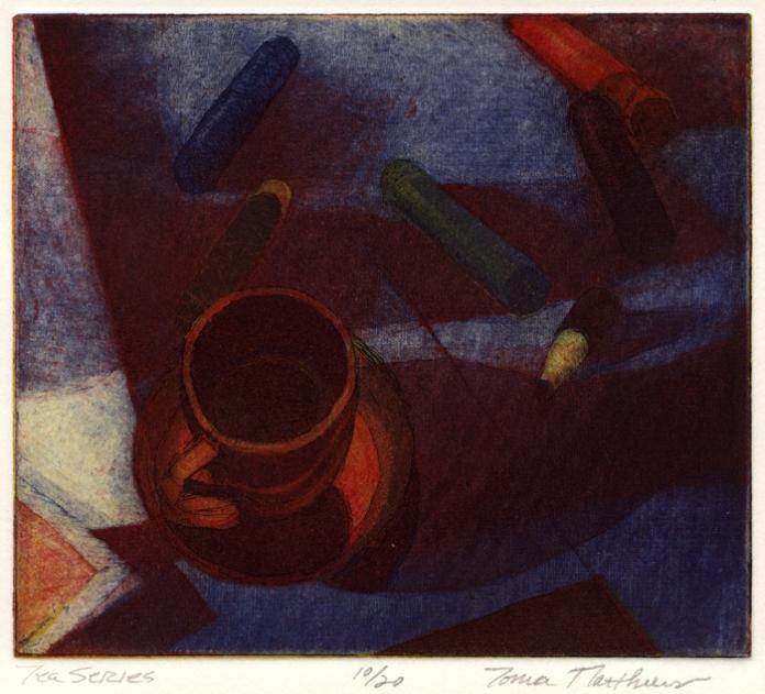 Tea Series. Tonia Matthews. Color etching, 1996. Edition of 20. $200.00