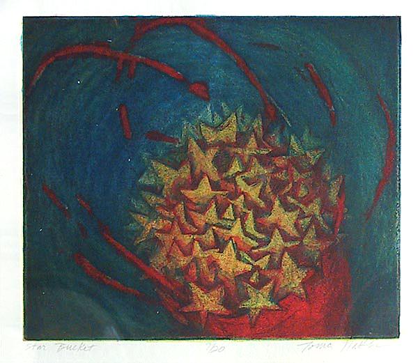 Star Bucket. Tonia Matthews. Color etching, 2003. Edition 20. $250.00