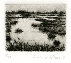 Wetland II. Deron DeCesare. Drypoint, 1999. Edition 50. $115.00
