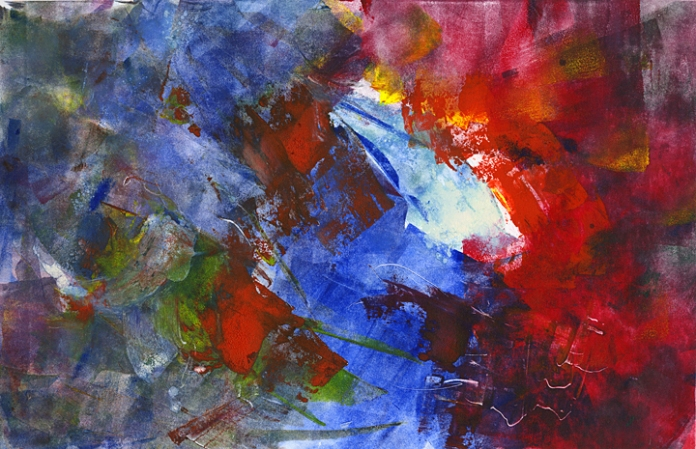 Whorl. Philip Bennet. Monotype, oil based ink, 2008.
