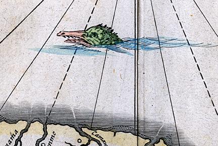 From: Guiana siue Amazonum Regno. Joannis Blaeu. Published by Guiljelmum Blaeu, Amsterdam. Copper plate engraving, c.1642. WEB LINK.