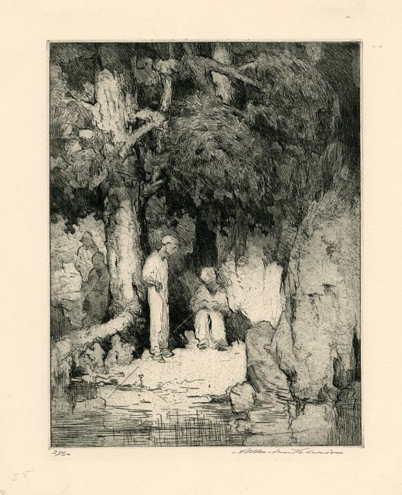 Negro Holiday. Alessandro Mastro-Valerio. Etching, 1933.