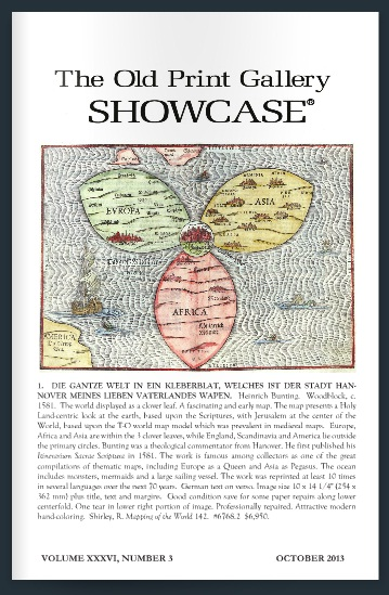 The Old Print Gallery Showcase. October 2013. CLICK TO READ!