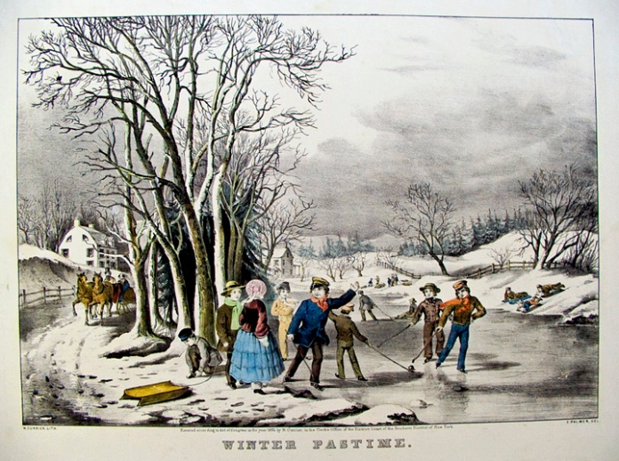 Winter Pastime. By Fanny F. Palmer. Published by N. Currier. Lithograph handcolored, 1855. Medium folio. LINK.
