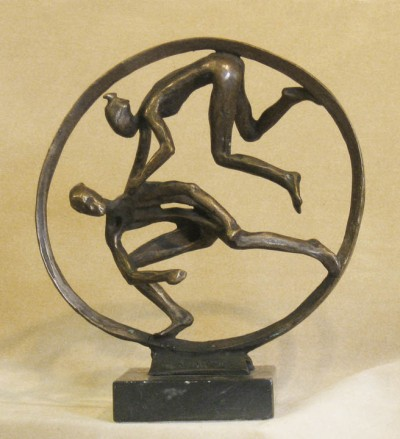 Circle Leap.  By Robert Cook. Bronze., 1994. Unique- 1/1.