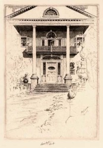 The Jumel Mansion. Charles Mielatz. Etching, 1906. LINK.