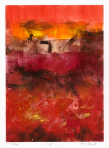 Glow. By Philip Bennet. Oil-based ink monotype, 2011. LINK.
