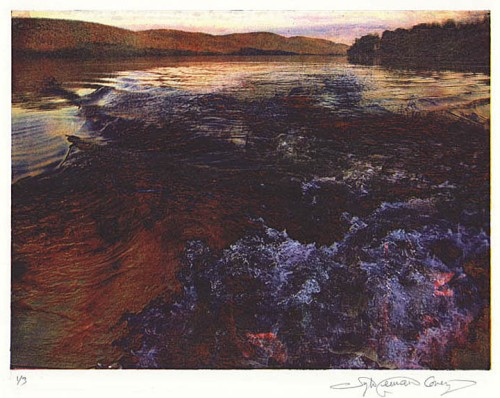 Lake George II. By Sylvie Covey. Photolithograph, 2010. Edition of 4. LINK.