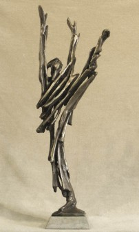Joy. By Robert Cook. Bronze, unique, made with the lost wax process, 2012. LINK.