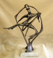 Avian Astaire. By Robert Cook. Bronze, unique, made with the lost wax process, 2012. LINK.