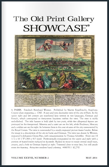 The Old Print Gallery Showcase. Volume XXXVII, Number 2 May 2014 CLICK TO READ