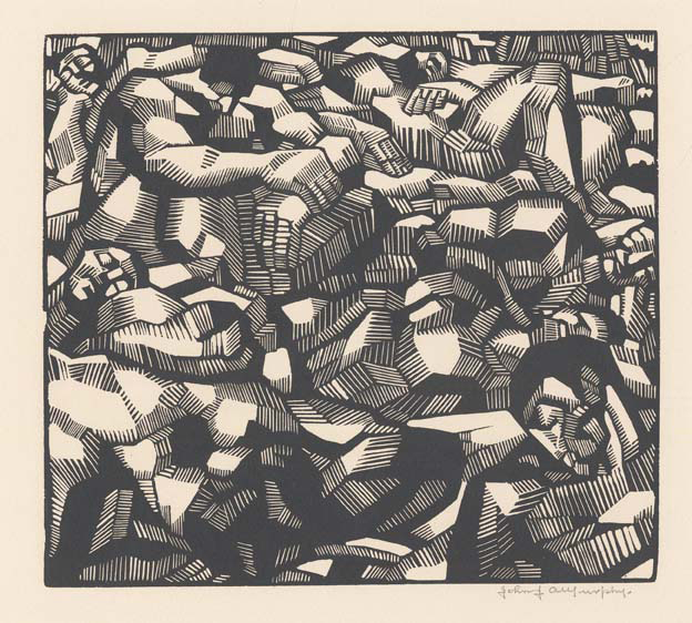 Athletes. By John J. A. Murphy. Wood Engraving, c.1930. Image size 6 15/16 x 7 3/4 inches. LINK.