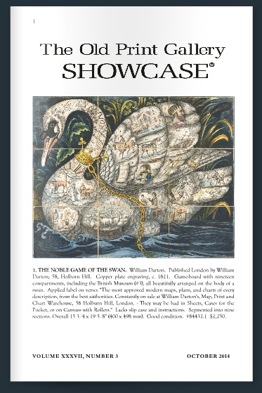 The Old Print Gallery Showcase. October 2014. Volume XXXVII, Number 3. Click to read here.