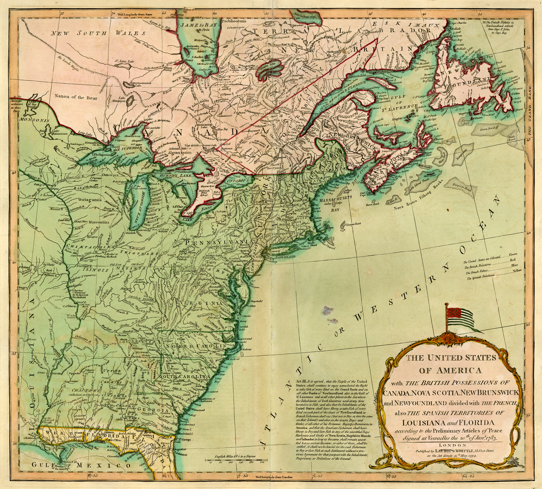 Laurie Whittles US Map The Old Print Gallery Blog - United states map in spanish