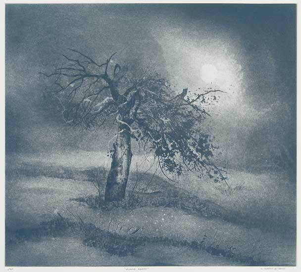 "Alone Again.  Gerald Scheck. Drypoint, etching, and aquatint, 2005. Edition 25. Image size 19 5/8 x 21 3/4"" (497 x 550 mm)."