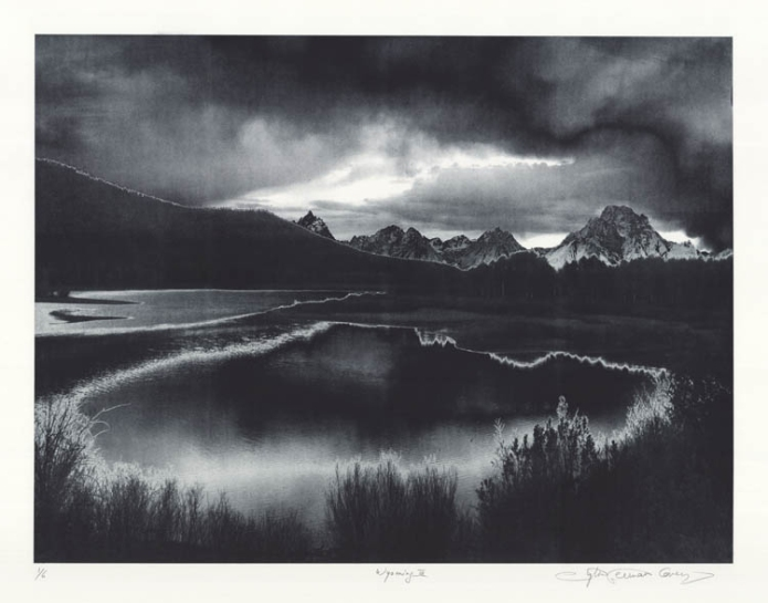 "Wyoming III. Sylvie Covey.  Photogravure, 2011. Edition 6. Image size 18 x 23 7/8"" (457 x 608 mm)."