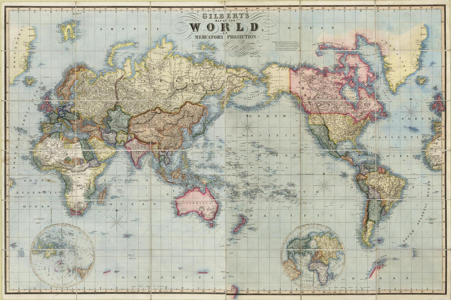 World Map The Old Print Gallery Blog - Authentic world map