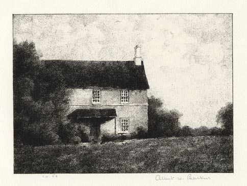 "Tenant House.  Albert W. Barker. Lithograph, 1937. Image size 4 5/16 x 6"" (110 x 152 mm). Edition 50.  Printed on chine colle. LINK."