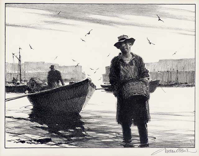 Any Lobsters Today? Gordon Grant. Lithograph, 1946. Edition 250. Image size 9 1/8 x 12 inches. LINK.