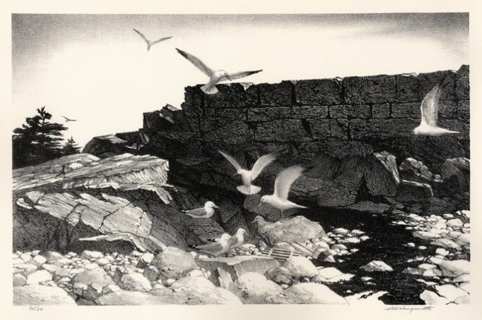 Breakwater. Stow Wengenroth. Lithograph, 1986. Ed. 50. LINK.
